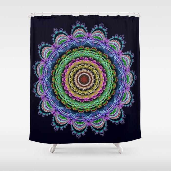 Fantasy Crochet Flower Shower Curtain By Walstraasart Society6