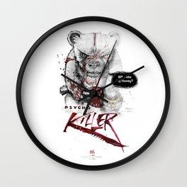 Ps*cho Killer bear Wall Clock