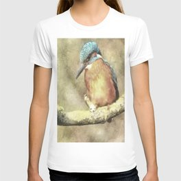 Stunning Kingfisher In Watercolor T-shirt