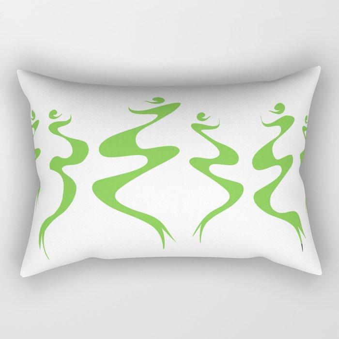 Dancers green Rectangular Pillow