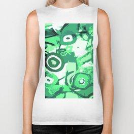 Deep rain forest abstraction Biker Tank