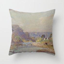 T. C. Steele - Brookville Landscape Throw Pillow