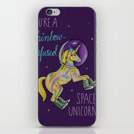 Leslie Knope Compliments: Rainbow-Infused Space Unicorn iPhone Skin