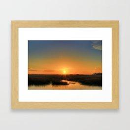 Marshland Sinking Framed Art Print