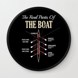 The Real Parts Of The Boat - Funny Boating Gifts Wall Clock