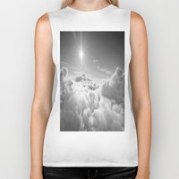 clouds Biker Tanks featuring Clouds Gray & White by 2sweet4words Designs