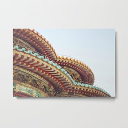 Chinese Style Roofs Metal Print