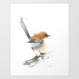 Wren - Minimalist painting   Art Print