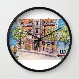 NY Street Motiongate Theme Park Dubai Wall Clock