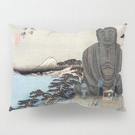 Ukiyo-e, Ando Hiroshige, KAMAKURA DAIBUTSU Pillow Sham