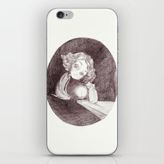 girl, cat and candle iPhone & iPod Skin