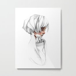 Cheeks only Metal Print
