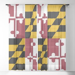 State flag of Flag Maryland Sheer Curtain