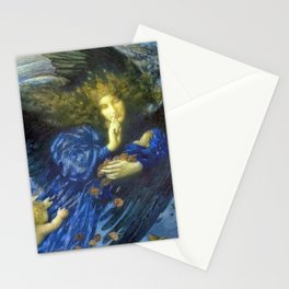 Night with her Train of Stars by Edward Robert Hughes Stationery Cards