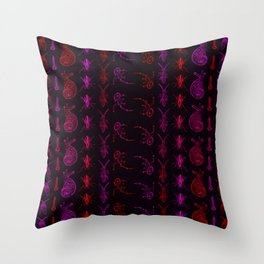 Neon Insect Stripes 1 Throw Pillow