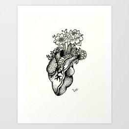 Planted Heart Art Print