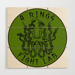 fight lab green Wood Wall Art