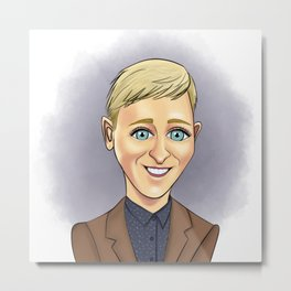 Cartoon Ellen Metal Print