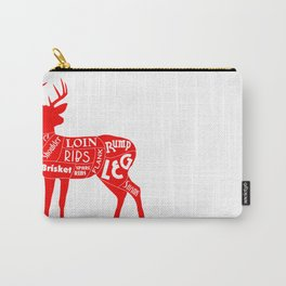 Venison Butcher's Chart Carry-All Pouch