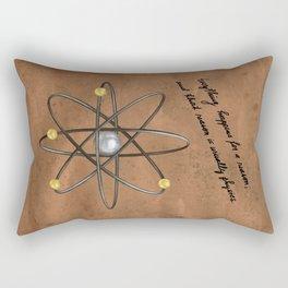 Everything Happens For A Reason, dark Rectangular Pillow