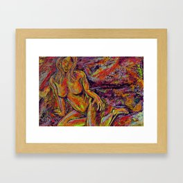 Discretion Framed Art Print