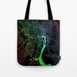 Ipswich, England, City, Map, Rainbow, Map, Art, Print Tote Bag
