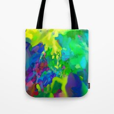 Yellow Lyrical Abstraction  Tote Bag
