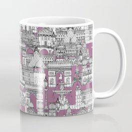 Paris toile raspberry Coffee Mug