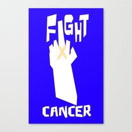 Fight liver cancer Canvas Print