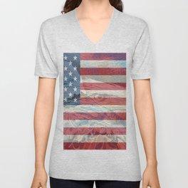 """"""" USA Strong """" Unisex V-Neck"""