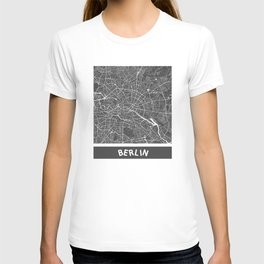 Berlin Map blue T-shirt
