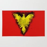 x men Area & Throw Rugs featuring Phoenix - X-Men by Trey Crim