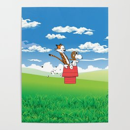 Snoopy Riding Poster