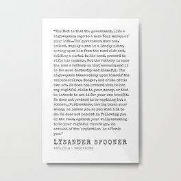 9   | Lysander Spooner | Lysander Spooner Quotes | 200608 Metal Print