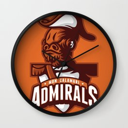 Mon Calamari Admirals on Orange Wall Clock