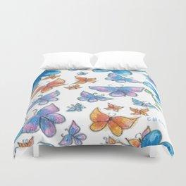 Blue Flower Pattern Duvet Cover