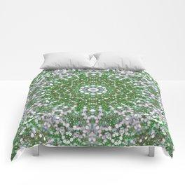 Her Mermaid Sea Kaleido Green Comforters