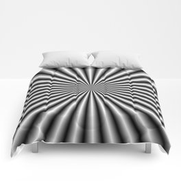 32 Rays in Black and White Comforters
