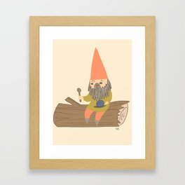Hungry Gnome Framed Art Print