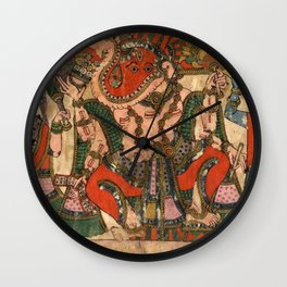 Hindu Krishna Ganesh Tapestry Wall Clock