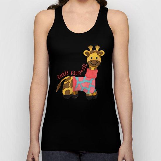 Cutie Patootie Giraffe Unisex Tank Top