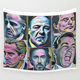 Gangsters painting movie Goodfellas Godfather Casino Scarface Sopranos Wall Tapestry
