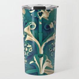 Green Flowers in New York City Travel Mug