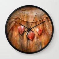 hearts Wall Clocks featuring Hearts ! by teddynash