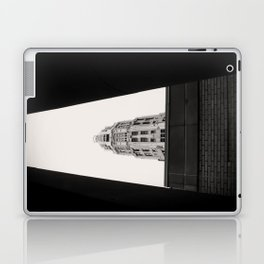 Mather Tower Building Top Chicago Black and White Photo Laptop & iPad Skin