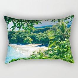 Hamoa Beach Hana Maui Hawaii Rectangular Pillow
