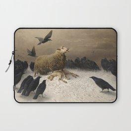Anguish - August Friedrich Albrecht Schenck - Ravens and Sheep Laptop Sleeve