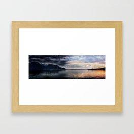 Sunset over Lake Geneva Framed Art Print