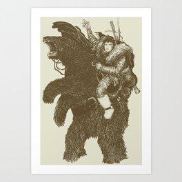 Bearpoleon Art Print