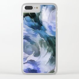 Blue rose. Clear iPhone Case